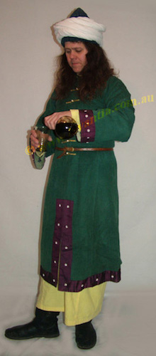 Byzantine men's costume, Byzantine men's clothing, Byzantine costume, Byzantine dress